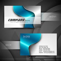 دانلود وکتور کارت ویزیت تجاری لایه باز با طرح زیبا