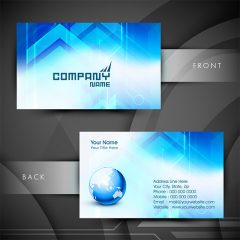 دانلود طرح لایه باز کارت ویزیت شرکتی با تم رنگی سفید و آبی