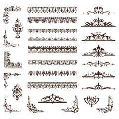 وکتور کادر و حاشیه های اسلامی بصورت خطی