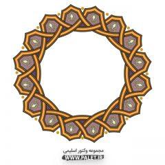 دانلود وکتور المان های اسلیمی دایره طرح دار