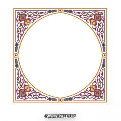 دانلود طرح کادر تذهیب سنتی لایه باز با پسوند eps