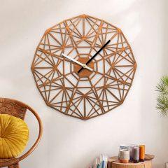 دانلود طرح ساعت دیواری چوبی با طراحی لیزری