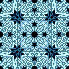 دانلود تصویر پس زمینه اسلیمی با رنگ آبی