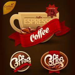 دانلود وکتور گرافیکی شیک فنجان قهوه با طرح خاص و جذاب