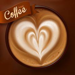 دانلود وکتور لایه باز گرافیکی فنجان قهوه داغ خوش طعم