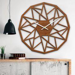 دانلود طرح ساعت چوبی با طراحی مثلثی بسیار شیک