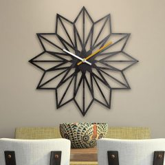 دانلود طرح 3 بعدی ساعت دیواری با طراحی زیبا به شکل گل