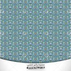 وکتور بک گراند و پس زمینه انتزاعی گل های آبی