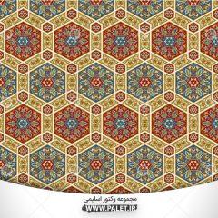 دانلود پس زمینه وکتور با طرح های سنتی و اسلیمی رنگی