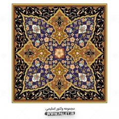 دانلود وکتور طرح اسلیمی مذهبی زیبا - اسلیمی قرآنی