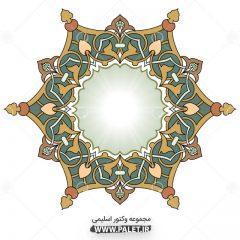 دانلود وکتور المان اسلامی و تذهیبی شمسه رنگی