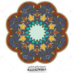 دانلود طرح شمسه اسلیمی با رنگبندی فوق العاده زیبا