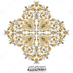دانلود طرح های اسلیمی وکاربردی بسیار زیبا-گل های زرد