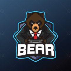 طرح وکتور لوگوی خرس