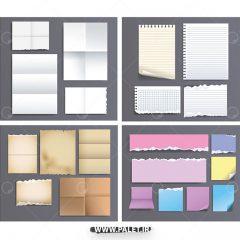 دانلود طرح های وکتور مقوایی کاغذ
