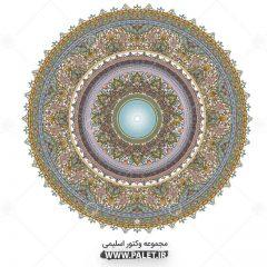دانلود وکتور شمسه طرح سنتی اسلیمی