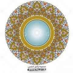دانلود طرح وکتور شمسه اسلیمی خورشیدی
