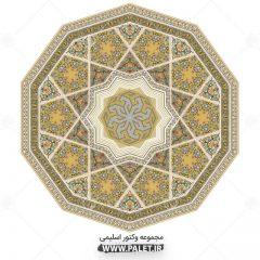 دانلود وکتور طرح شمسه دایره ای سنتی