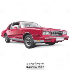 دانلود طرح با کیفیت ماشین شورلت کلاسیک قرمز