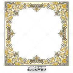 تذهیب مربعی با المان های سنتی اسلامی ایرانی