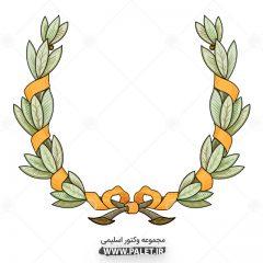 دانلود طرح گل و بوته سبز اسلیمی