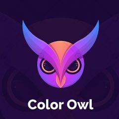 دانلود وکتور لوگوی صورت جغد رنگارنگ