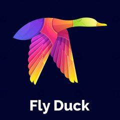 دانلود وکتور لوگوی اردک در حال پرواز