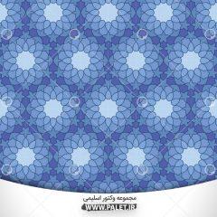 وکتور پترن گل های سه بعدی ب رنگ زیبای آبی