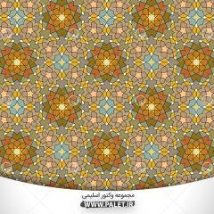 پس زمینه وکتور اسلیمی سنتی با رنگبندی متنوع