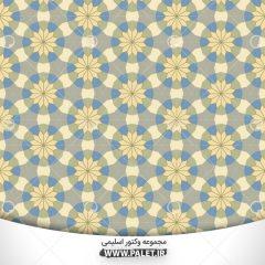 دانلود پترن اسلیمی با گل های زیبا حاشیه آبی
