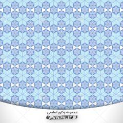 دانلود وکتور طرح سنتی مذهبی با پس زمینه آبی