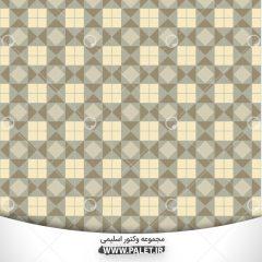 دانلود وکتور طرح چهارخونه اسلیمی با پس زمینه قهوه ای