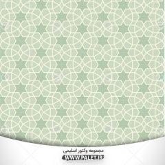 وکتور اسلیمی به صورت لایه باز با رنگ سبز (ai)