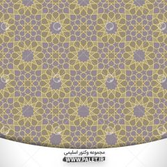 دانلود وکتور ایرانی طرح اسلیمی پس زمینه سنتی