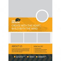 طرح وکتور کاتالوگ تبلیغاتی ساخت و ساز
