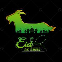 دانلود طرح وکتور عید قربان فونت انگلیسی