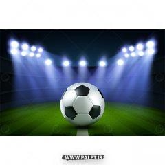 دانلود وکتور توپ فوتبال و ورزشگاه