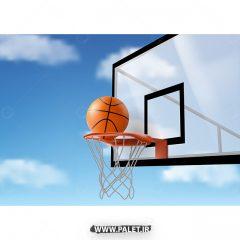 دانلود وکتور توپ بسکتبال و تور