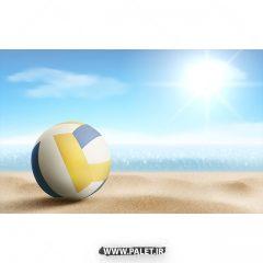 دانلود وکتور والیبال ساحلی و توپ والیبال