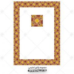 وکتور طرح سنتی کادر و حاشیه رنگی شرقی