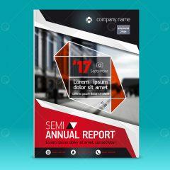 دانلود بروشور طرح گزارش سالانه زمینه قرمز