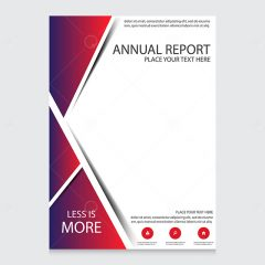وکتور تراکت طرح گزارش سالانه زمینه قرمز آبی