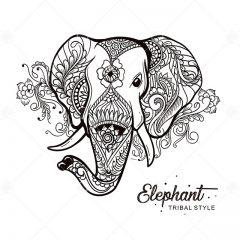 دانلود طرح وکتور سایه فیل