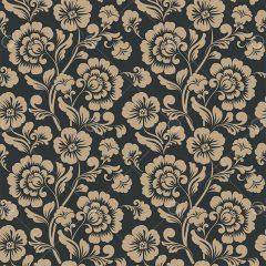 دانلود وکتور پترن هندسی طرح گل زمینه قهوه ای