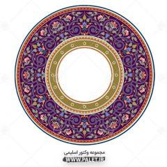 المان شمشه وکتور اسلامی بنفش تذهیب و اسلیمی