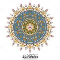 طرح شمسه اسلیمی فوق العاده زیبا و رنگبندی متنوع