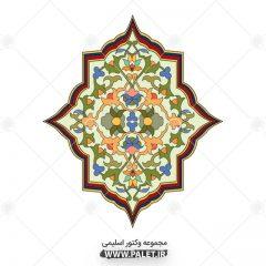 دانلود وکتور اسلیمی تذهیبی با رنگبندی بسیار زیبا