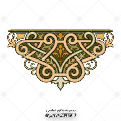 دانلود لایه باز اسلیمی رنگی با تزئینات سنتی