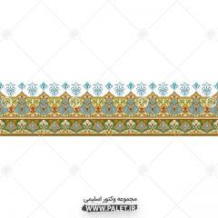 قاب و حاشیه مستطیلی تذهیب سر در سنتی