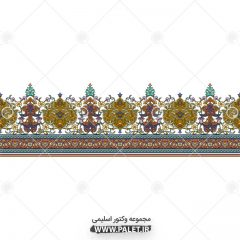 حاشیه تذهیب اسلیمی مستطیلی سنتی